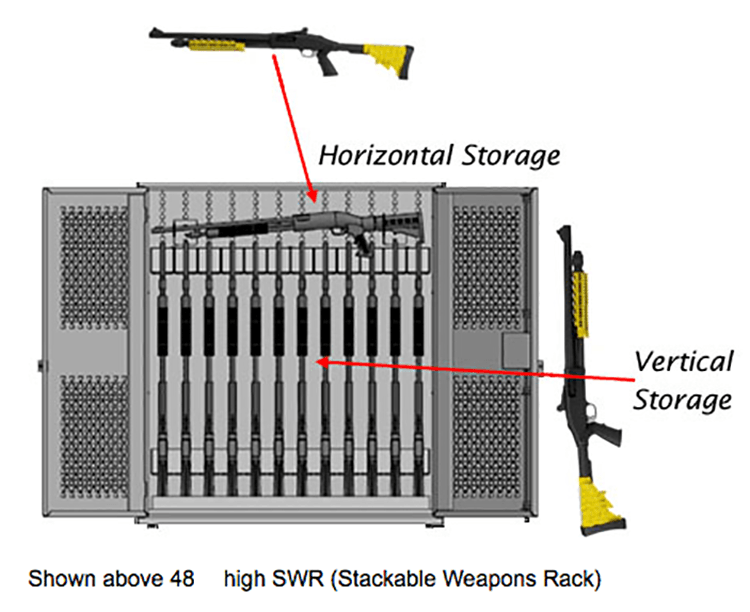 taser storage solutions stackable weapons racks