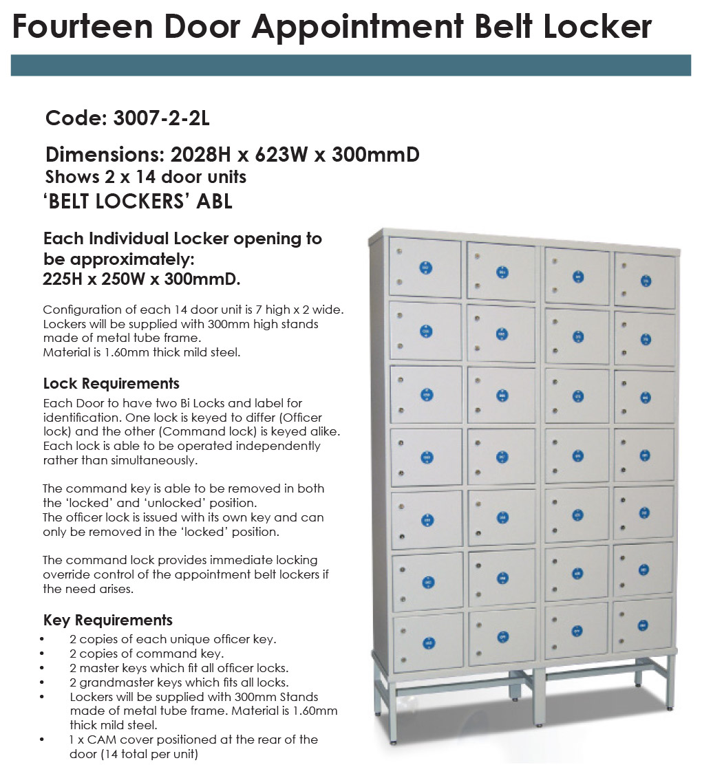 14 Door Appointment Belt Locker
