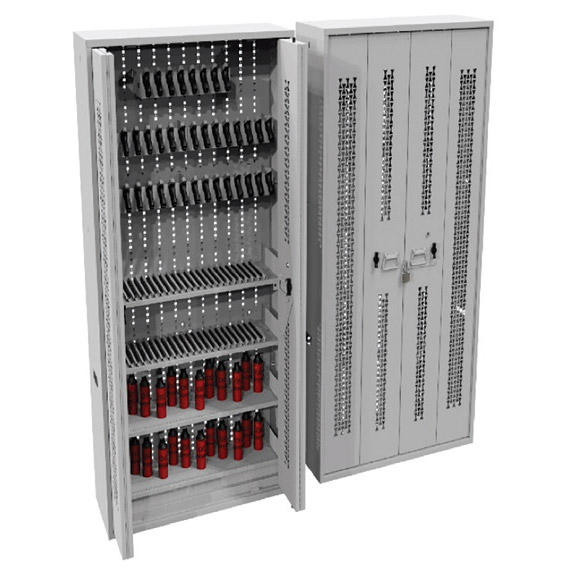 Baton/OC Spray/Pistol Storage in Bi-Fold Security Cabinet