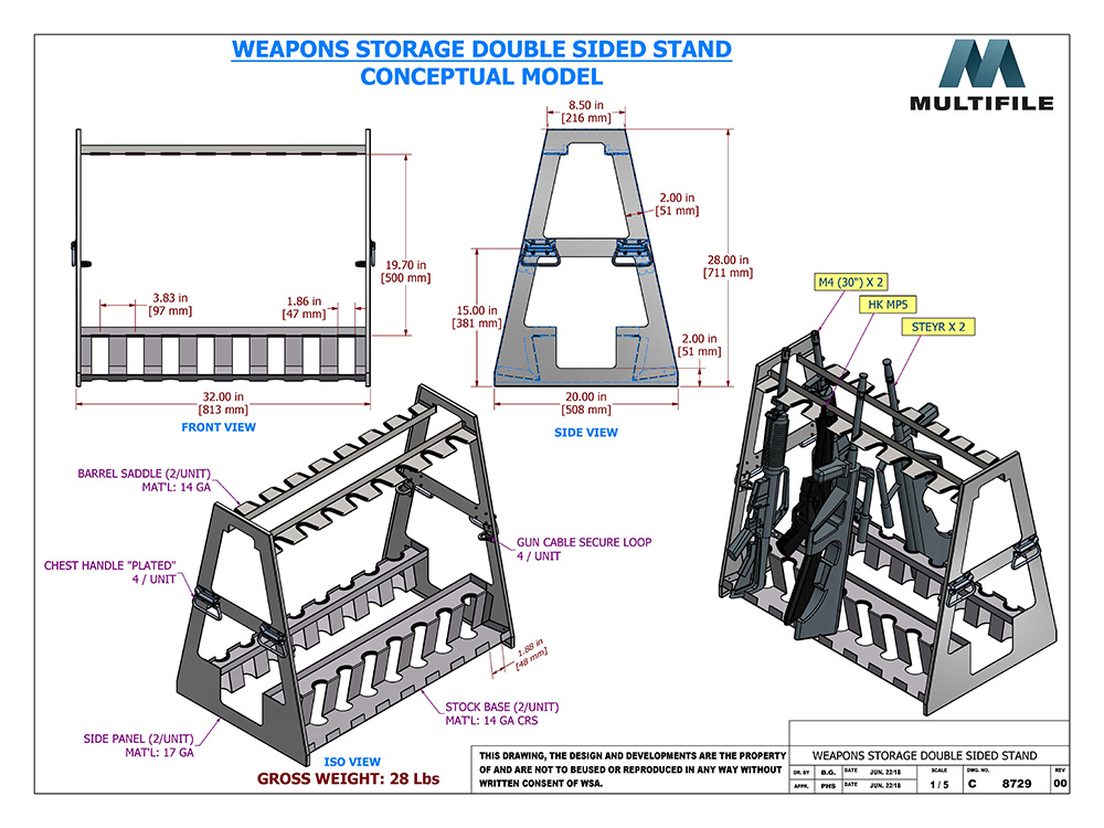 Cad Drawing Weapons Storage