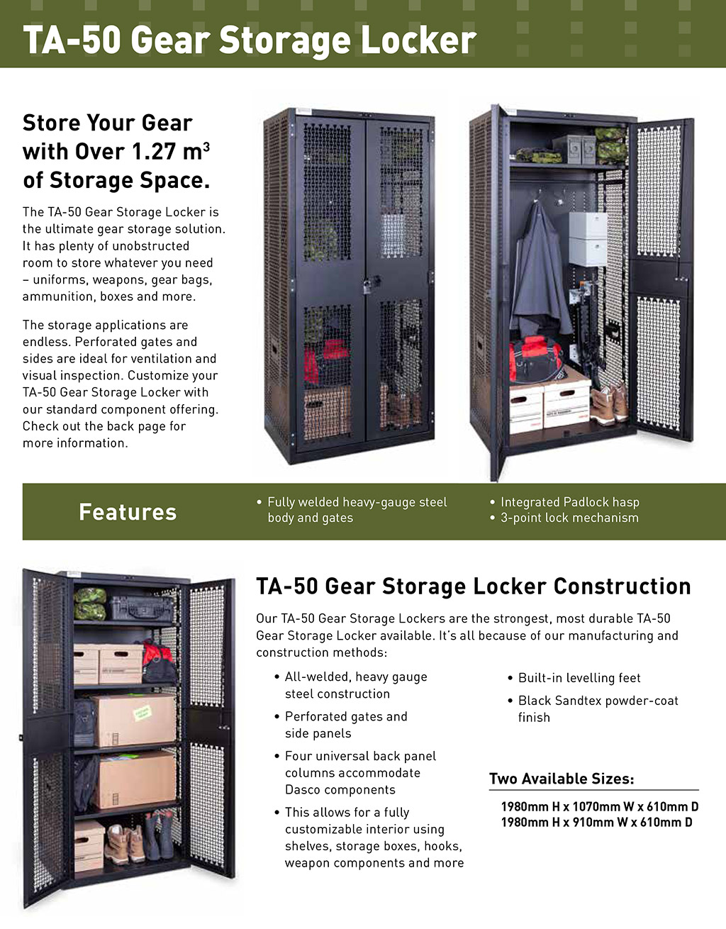 TA-50 Lockers and Gear Cages