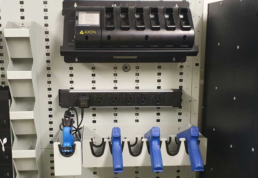 Taser Charging Units with Axon Body Camera Charging Unit